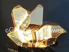1 STARBRARY PURE 24KT GOLD AURA HERKIMER DIAMOND QUARTZ CRYSTAL FROM HERKIMER NY