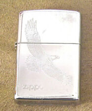 Zippo Lighter Flying Eagle Brushed Chrome