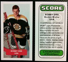 ICE HOCKEY - BOSTON BRUINS - BOBBY ORR - Score World Sports UK trade card