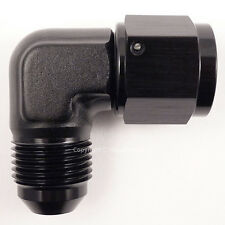 AN -6 AN6 JIC BLACK 90 Degree MALE to FEMALE Forged Elbow Hose Fitting Adapter