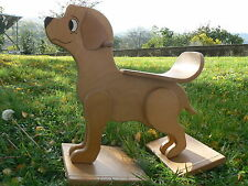 NUOVO Cane cavalvabile dondolo in legno vintage made in Germany