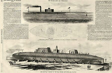 Building Ironclad Keokuk, Ironclads at Charleston, Ericsson Devil 1863 Prints