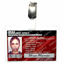 Resident Evil Sheva Alomar ID Badge BSAA Zombie Cosplay Costume Prop Halloween