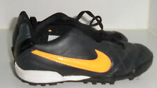 Nike Tiempo Rio Astro Turf Trainers - Junior - Charcoal - Orange kids uk 10
