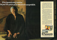 PUBLICITE ADVERTISING 104  1980  PANASONIC  téléviseur & magnétoscope ( 2p)