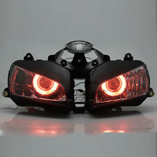Red Angel Eyes HID Projector Aseembly Headlight For Honda CBR600 2003-2006