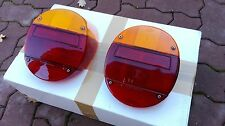 VW Super Bug/Beetle Cabrio 1973-1979 HELLA Euro Red/Amber Taillights Lenses