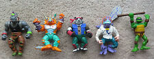 TMNT figure lot Triceraton Baxter Stockman Fly Panda Khan Rocksteady Rhino MORE