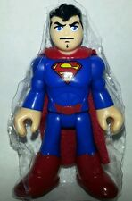"DC Super Friends SUPERMAN 3"" Action Figure Imaginext Fisher-Price Hero Squad"