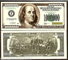 USA 1000000 1.000.000 Dollar Novelty 1 Pcs Fun Bill Souvenir