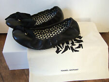 Isabel Marant black lambs leather slouchy ballerina pumps. UK 4. RRP £260