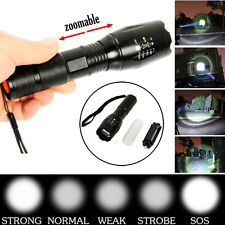 5000Lumen Zoomable XML T6 LED Flashlight Focus Torch Light 5Modes 18650 Powerful