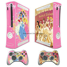 Disney princess_2 vinyl decal Sticker Skin cover case for xbox360 Console wy15