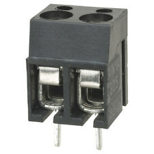 16A Interlocking Terminal Block 2 Way Connector PCB Type Pinch Screw (Pack of 5)