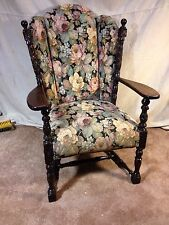 Arm Chair Jacobean Antique C12pix4size/details.ships By Greyhound $89.PLACE BIDS