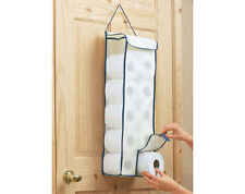 HANGING TOILET ROLL ORGANISER - KEEP TOILET ROLLS IN THIS EASY TO USE ORGANISER
