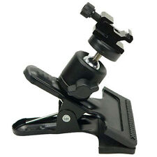 Clamp Clip+Ball Socket Head for Camera DV Flash Photography Tripod Light Stand