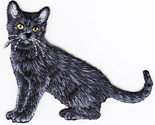 BLACK CAT - CAT - KITTEN - PETS -  Iron On Embroidered Applique Patch/Animals