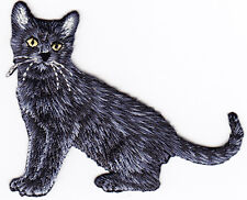 BLACK CAT - CAT - KITTEN - PETS - ANIMALS - Iron On Embroidered Applique Patch