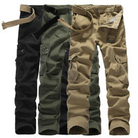 COOL ARMY CARGO CAMO COMBAT MILITARY MENS TROUSERS CAMOUFLAGE PANTS CASUAL 29-38