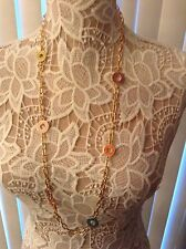 COACH MULTI DISC NECKLACE Gold tone stunning NWOT