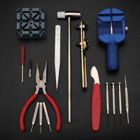 New 16pcs Deluxe Watch Back Case Opener Tool Kit Repair Pin Remover Watchmaker