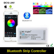 Bluetooth 4.0 RGB RGBW Music Timing LED Strip Controller For iOS iPhone Android