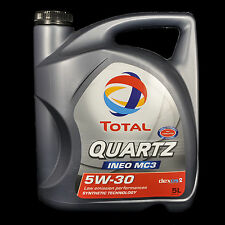 Total Quartz Ineo MC3 5W-30 5L - VW 502.00/505.01, BMW LL-04, MB 229.51, Dexos2