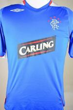 Mens Blue Official Umbro Glasgow Rangers Soccer Jersey sz Small w/ Carling Logo