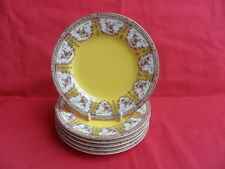 "Royal Worcester, Yellow Swags/Garlands Design 6 x 6"" Teaplates"
