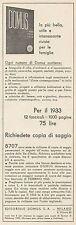 Z3116 DOMUS l'arte nella casa - Pubblicità - 1933 old advertising