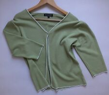 """Women's KAREN SCOTT Cardigan Size 3 L Armpit To Armpit 21"""" Pale Green."""