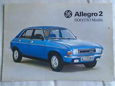 Austin Allegro 2 1500 & 1750 GAMA FOLLETO ref 3162 de diciembre 1975
