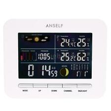 New Wireless Weather Station Forcast Thermometer Barometer Moon Phase Display