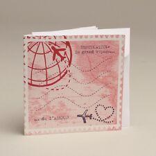 Lot de 10 Faire-parts Voyage avec enveloppe Baptême Mariage Communion