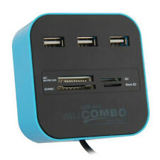 All In One Multi-card Reader with 3 ports USB 2.0 Hub Combo for SD/MMC/M2/MS MP