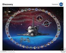 Space Shuttle Discovery Tribute Poster, NASA, 10x8 inch Print