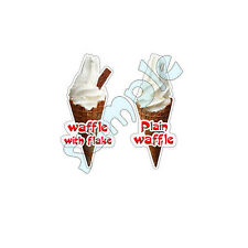 ice cream van / 2 x waffle stickers DIE CUT,