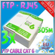Cavo di Rete - FTP LAN Cable Cat 6 - RJ45 + matassa 915mt + GLS - Italy - 3 pc