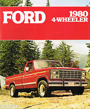 1980 FORD 4-WHEELER PickUp Truck 4WD Trucks Brochure:PickUp,BRONCO,F-150,250,350