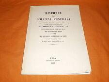 stanislao grottanelli de' santi discorso pei solenni funerali 1848 ristampa 1993