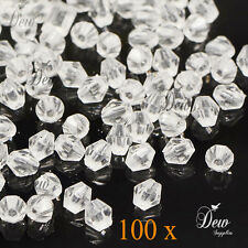 20g 280pcs Acrylic beads Faceted Bicone beads 5mm transparent clear craft