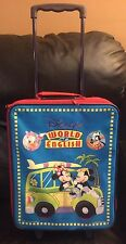RARE Disney's The World Of English Rolling Roller Suitcase Bag