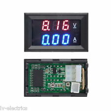 4.5-30V DC Voltmeter Ammeter Blue + Red LED Amp Dual Digital Volt Meter Gauge