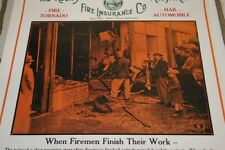 Old Rocky Mountain Fire Insurance Poster After the Fire