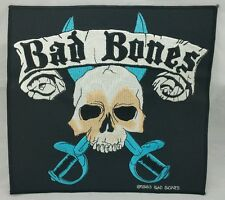 Bad Bones Skull & Sword Back Patch Stick On Patch Heavy Metal 24cm x 22.5cm
