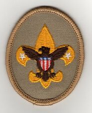 "Tenderfoot Patch, Oval, Tan, w/ the newest ""Since 1910"" Slogan Back, Mint!"