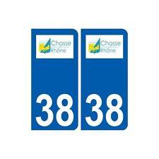 38 Chasse-sur-Rhône logo autocollant plaque ville arrondis