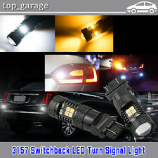 2X 3157 Switchback Dual Color White/Amber 3030 16LED Turn Signal Light Bulbs New