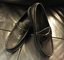$1,6K NEW YSL SAINT LAURENT LUXURY PYTHON BLACK LOAFERS M/ITALY SIZE 40,41,42,43